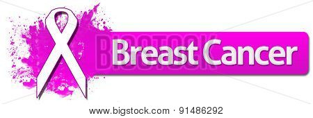 Breast Cancer With Ribbon Pink