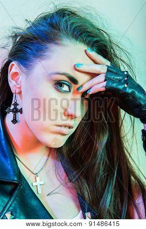 Young beautiful punk girl
