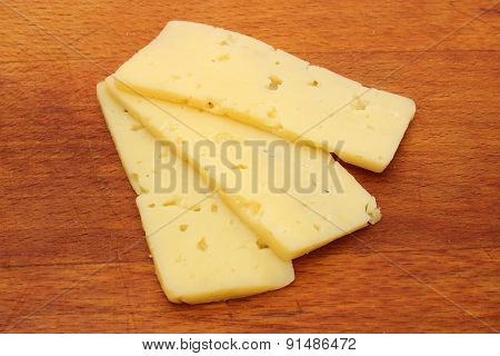 Three Slices Of Cheese