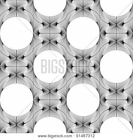 Design Seamless Monochrome Ellipse Decorative Pattern