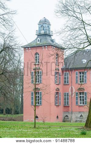 Tower Of An Old Moated Castle