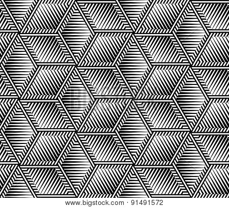 Abstract Striped Vector Seamless Pattern