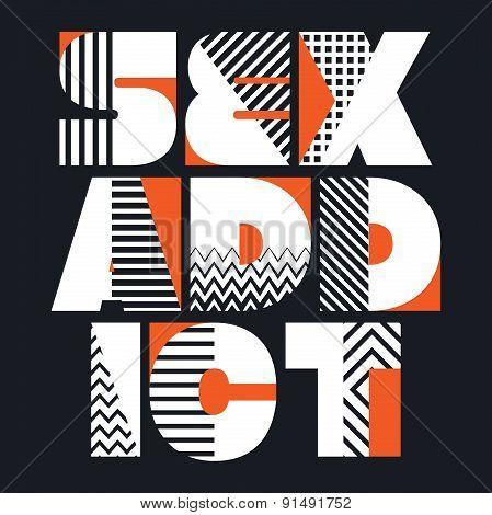 Sex Addict T-shirt Typography, Vector Illustration