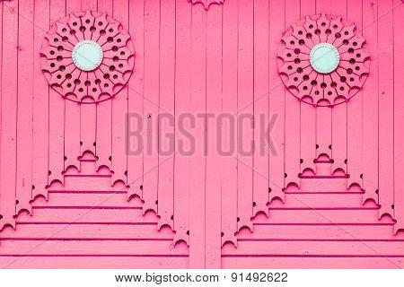 pink wooden vertical plank