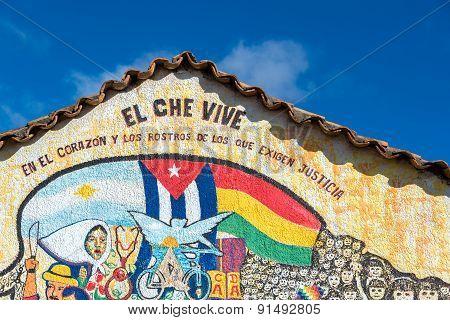 Che Guevara Themed Mural