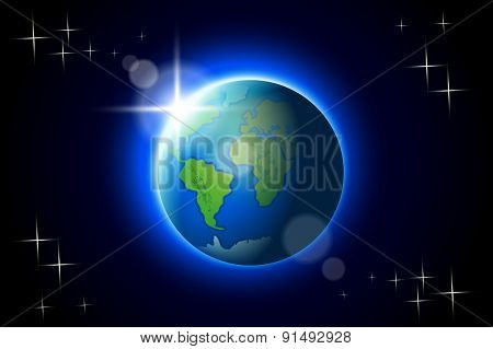 earth on dark