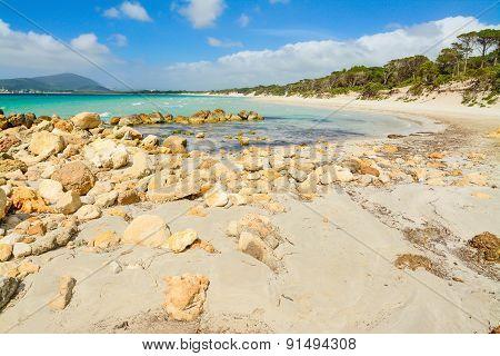 Rocks By Alghero Shore