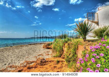 Beach House In Alghero Shoreline