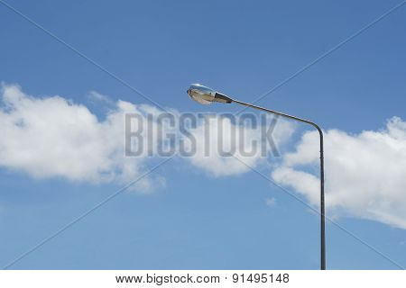 Streetlight With Beautiful Sky Background