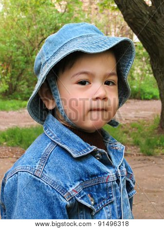 Portrait of Baby Boy Outdoor