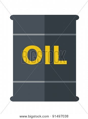 A Barrel with oil symbol. A Contemporary style. Vector flat design illustration isolated white background. Vertical layout