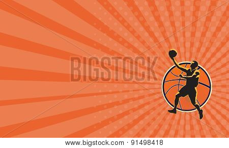 Business Card Basketball Player Lay Up Ball
