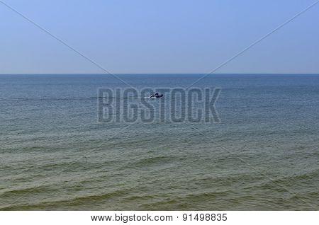 The Baltic Sea Coast. The Beach In Zelenogradsk