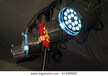 Rgb Floodlight. Lighting Equipment For Concerts.