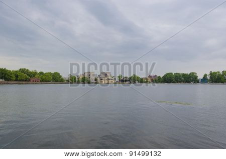 The Banks Of The Upper Lake In Kaliningrad
