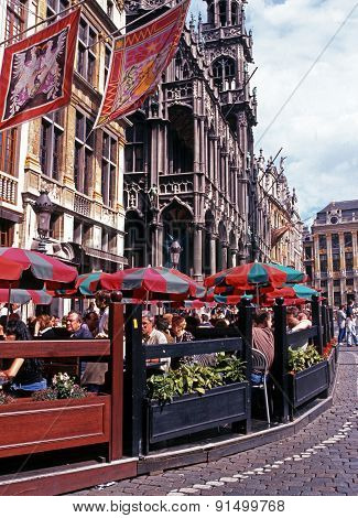 Pavement cafe, Brussels.