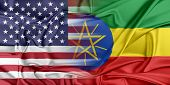 stock photo of ethiopia  - Relations between two countries - JPG