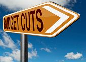image of budget  - budget cuts reduce costs and cut spendings during crisis or economic recession  - JPG