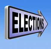 stock photo of democracy  - elections to get new government or president free election for new democracy local national voting poll  - JPG