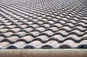 image of roofs  - Roofs with corrugated roofing layer in construction - JPG