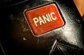 picture of panic  - Big red panic button  - JPG