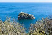 stock photo of crimea  - a rock in sea - JPG