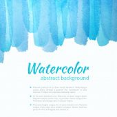 stock photo of  art  - Watercolor Blue Background - JPG