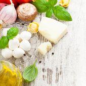 stock photo of peppercorns  - Italian food background - JPG