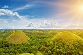 picture of chocolate hills  - Beautiful scenery of Chocolate Hills in Bohol Philippines - JPG