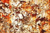 image of rusty-spotted  - Texture of rusty with drip on steel wall background - JPG