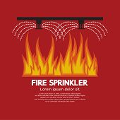 picture of sprinkler  - Fire Sprinkler Life Safety Vector Illustration - JPG