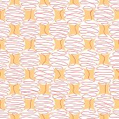 picture of quirk  - twisted lines in the shape of a ball on an orange background - JPG