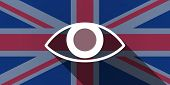 picture of illuminati  - Illustration of an UK flag icon with an eye - JPG