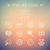 image of trophy  - Sports thin line icon set for web and mobile - JPG