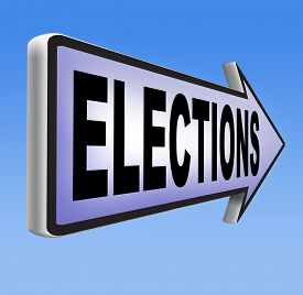 stock photo of election  - elections to get new government or president free election for new democracy local national voting poll  - JPG