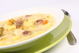 picture of giblets  - Pickled cucumber soup with some giblets  - JPG