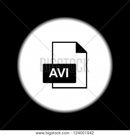 avi file icon. Flat design style eps 10