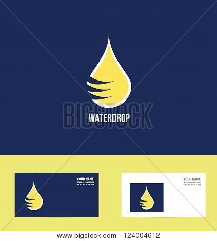 Vector company logo icon element template water drop droplet waterdrop