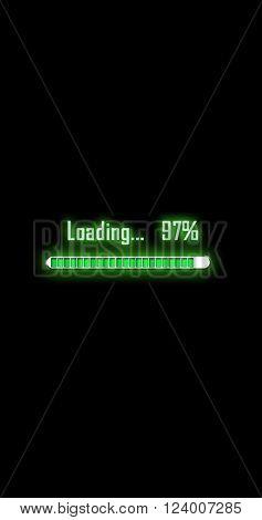 process, nine, seven, the percentage loading, filling, square