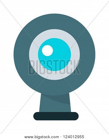 Web camera vector illustration. Web camera isolated on white background. Web camera vector icon illustration. Web camera isolated vector. Web camera silhouette