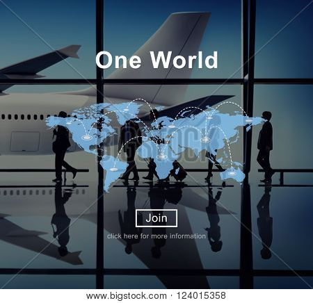 One World Peace Connection Relationship Interconnection Concept