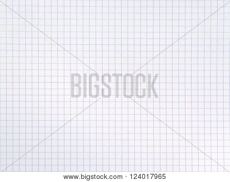 Blank squared notebook sheet (as a squared white paper background)