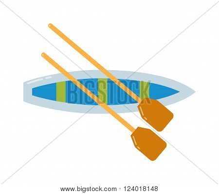 Rowing sports vector illustration. Boat collection isolated on white. Rowing sports with boat. Extreme sports design over white background, vector illustration. Rowing boat vector sport on water.