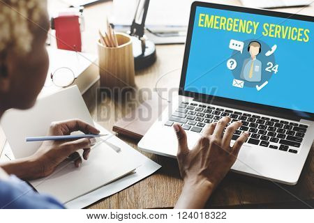 Emergency Services Urgency Helpline Care Service Concept
