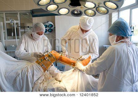 surgeons team at work