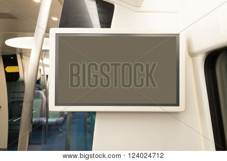 blank tv billboard in metro railway station shot in asia hong kong great for your copy space