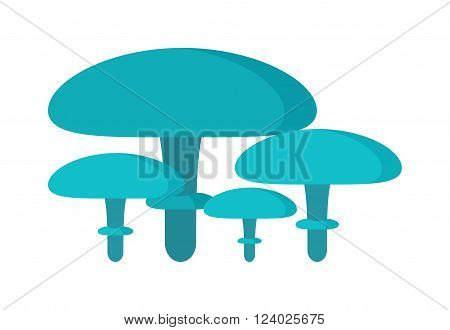 Mushrooms Illustration on white background. Mushrooms vector illustrations. Mushrooms symbol isolated. Mushrooms organic nature. Mushrooms isolated