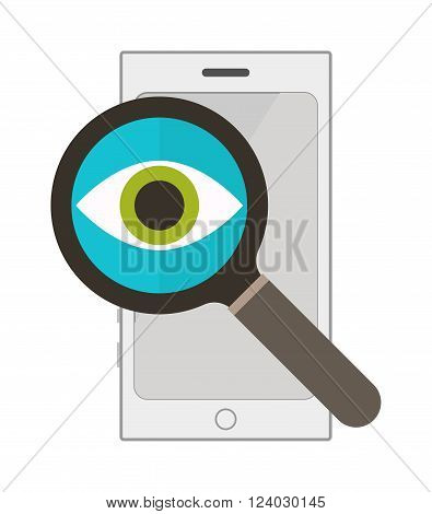 Information search vector. Information search illustration. Information search isolated on white. Information search icon. Information search flat style. Information search tool silhouette. Information search loupe
