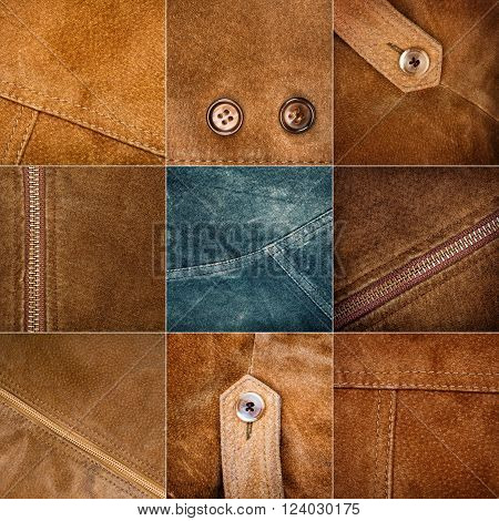 Big size collection of various suede textures