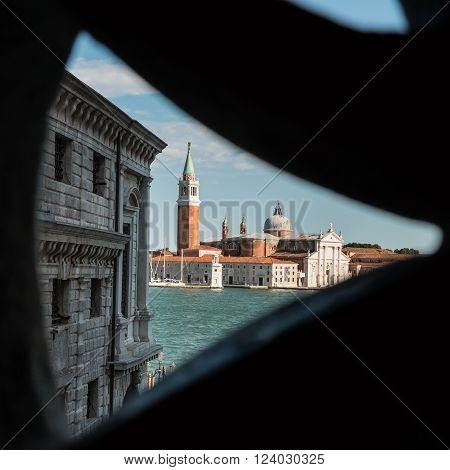 San Giorgio Maggiore Church: View From A Window, Venice, Italy